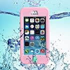 Unitewell New High Quality Apple iphone 5 5s 4 4s Protection Case Cover with Neck Strap - Waterproof Dustproof Shockproof Snowproof CrashProof - Retail Packaging (Pink)