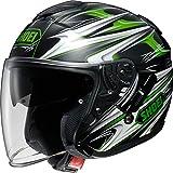 ショウエイ(SHOEI) バイクヘルメット ジェット J-Cruise CLEAVE(クリーブ) TC-4(GREEN/BLACK) L(59cm)