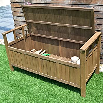 Giantex 70 Gallon Storage Bench All Weather Outdoor Patio Storage Garden Bench Deck Box