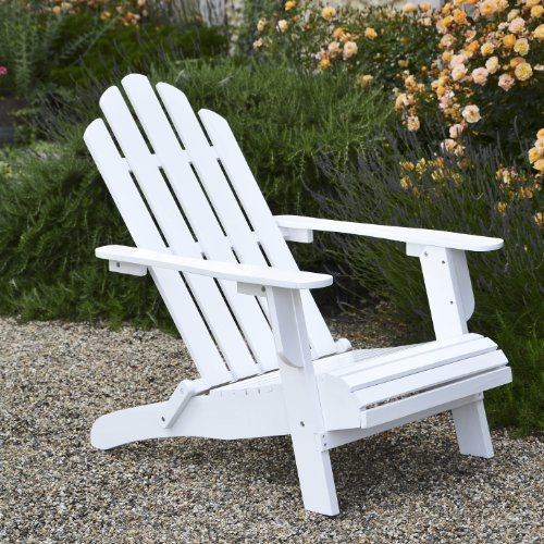 Adirondack Folding Chair, Painted White - Superior Quality