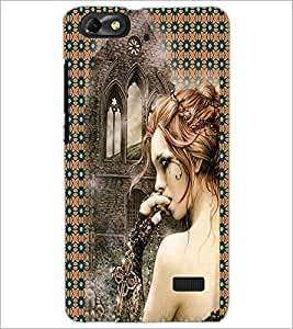 PrintDhaba Crying Girl D-3082 Back Case Cover for HUAWEI HONOR 4C (Multi-Coloured)