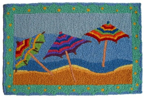 Coastal-Tropical-Tiki-Beach-Umbrellas-Area-33-x-21-Inch-Accent-Rug