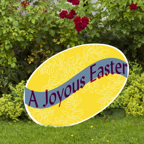 Outdoor Nativity Store Joyous Easter Yard Sign