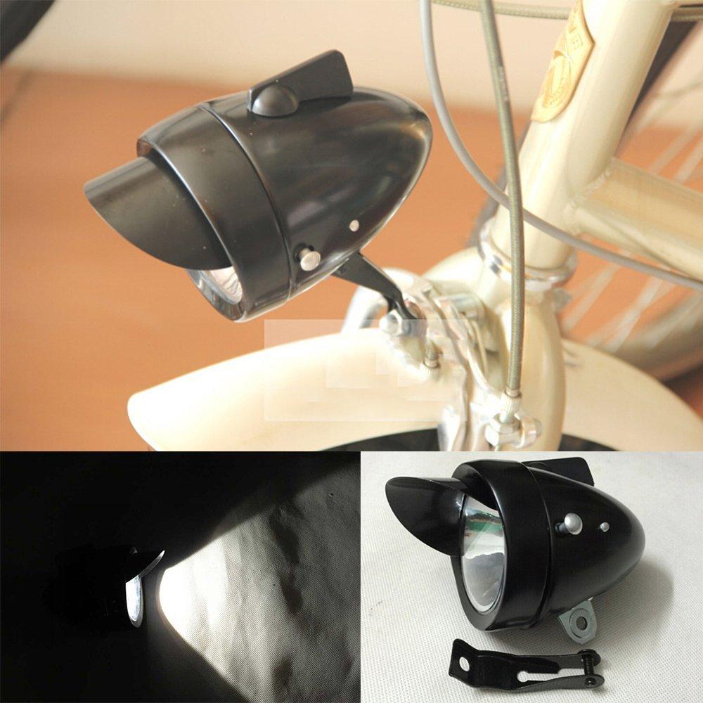 Goodkssop Classical Metal Black Vintage Bicycle Bike LED Light Headlight Front Retro Head Lamp 0