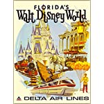 Walt Disney World Delta Airlines Orlando Florida United States of America Travel Advertisement Poster - Poster measures 10 x 13.5 inches