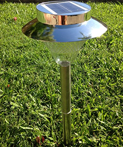 Solar Outdoor Patio Deck Lights: Very Large Super Bright LED Solar Garden Pathway Outdoor