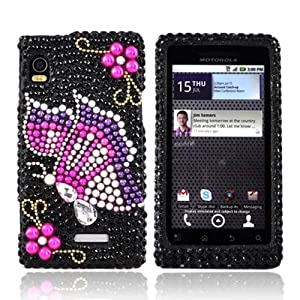 Bling Hard Case Pink Purple Motorola Droid 2