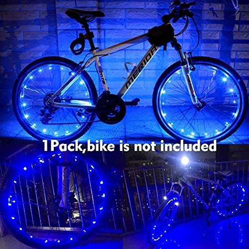 Yacoto Water Resistant Cool LED Bicycle Bike Cycling Wheel Light Safety Light Spoke Light Lamp Lightweight Accessory