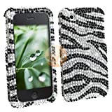 MYBAT Clip-on Case for Apple iPhone? 3G / iPhone 3GS,? Black / Silver Zebra Diamond
