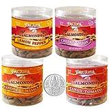 Chocholik Dry Fruits - Almonds Tandoori Masala, Tangy Tomato, Lemon Pepper & Cheese Onion With 5gm Pure Silver...