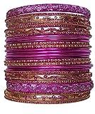 Set of Light Pink Bangle Bracelets for Women