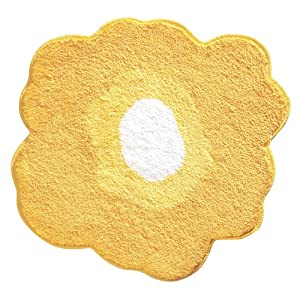 InterDesign Design Poppy Rug, Yellow, 26 Inch by InterDesign