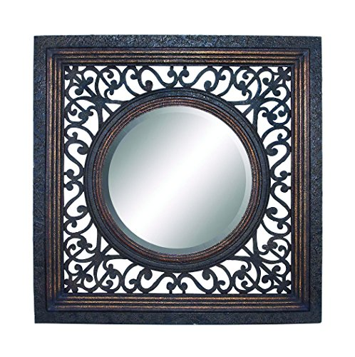 Frame Mirror In Glossy Finish With Artistic Design