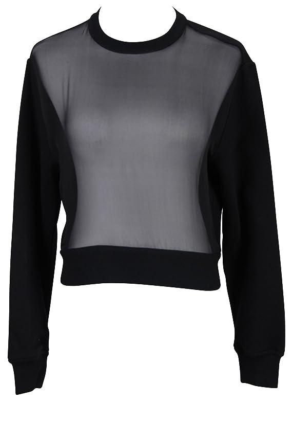 Givenchy Black 100% Cotton Women's Crewneck Sweater Size M Regular