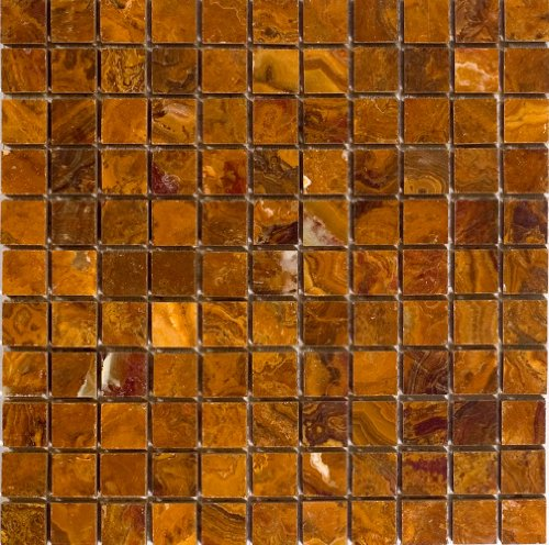 Epoch Tile BR1X1 1x1 Polished Onyx, Brown