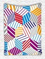 Iandsang Colorful Diamond Stripes Tapestry Wall Hanging 40 X 60 Inches