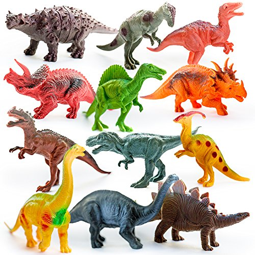 Dinosaur-Toys-Dinosaurs-Small-Large-Assorted-Plastic-Figures-12-Piece-Set-5-7-For-Boys-Girls-Old-Toddlers-Preschoolers-Animal-Playset-for-Educational-Fun-Activity-Play-Kids-Imaginative