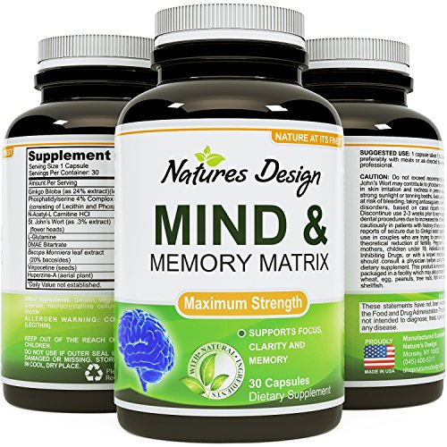 Natures Design Mind & Memory Matrix, 30 Capsules