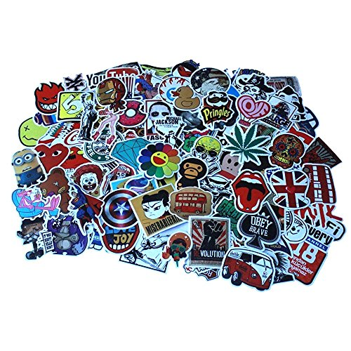 Diageng Random Styles Vinyl Stickers, 6 - 12cm (Pack of 100) (Pack Of Stickers compare prices)