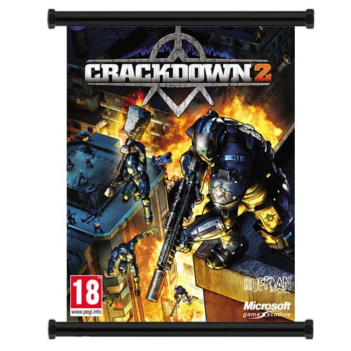 """Crackdown 2 Game Fabric Wall Scroll Poster (16"""" X 20"""") Inches"""
