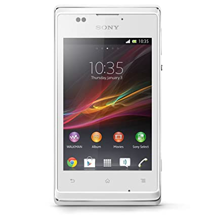 Sony Xperia E Smartphone Android 4.1 Jelly Bean Bluetooth/Wifi/GPS Blanc