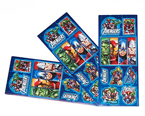 Marvel Avengers Sticker Sheets, 4 Count,  Party Supplies