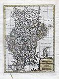 Supplemento .. la Suezia meridionale - Sweden Schweden Stockholm Uppsala Göteborg Karte map engraving Kupferstich