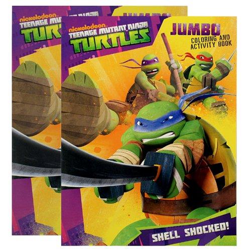 Teenage Mutant Ninja Turtles (TMNT) Jumbo Coloring & Activity Book Shell Shocked [2-Pack] - 1