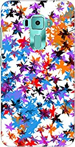 The Racoon Lean Rainbow Leaves hard plastic printed back case/cover for Asus Zenfone 3 Ze552Kl