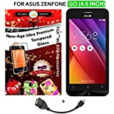 For Asus ZenFone GO (4.5 Inches) - TGK PREMIUM 9H Hardness ShatterProof Toughened Tempered Glass Screen Protector...