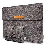 Inateck 13.3 Inch MacBook Air/ Retina Macbook Pro/ 12.9 Inch iPad Pro Sleeve Case Cover Ultrabook Netbook Carrying Case Protector Bag – Dark Gray