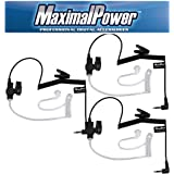 MaximalPower RHF 617-1N X3 3.5mm Receiver/Listen Only Surveillance Headset Earpiece, 3 Pack (Color: 3 Pack)