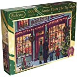 Falcon de Luxe - Santa Visits The Toy Shop Christmas Jigsaw Puzzle (1000 Pieces)
