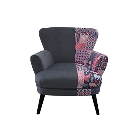 Patchwork/Grey armchair
