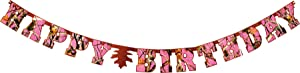 "PINK Next Camo Banner ""Happy Birthday"" Havercamp Camouflage Hunting Party Decorations from Havercamp"