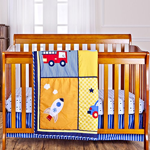 Dream On Me On The Go 3 Piece Reversible Full Size Crib Set