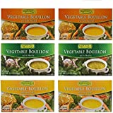 Rapunzel Vegetable Bouillon Variety--6 Pack--(2-Seal Salt , 2-Herbs , 2-No Salt)