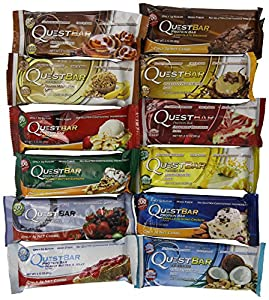 Quest Nutrition - Quest Bar Variety 2.12 ounce bar (12 Bars) (Items may come in a box indicating a single flavor, but items inside are a variety pack)