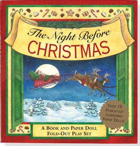 The Night Before Christmas: A Book and Paper Doll Fold-out Play Set (Activity Book, Christmas) (Activity Book Series)