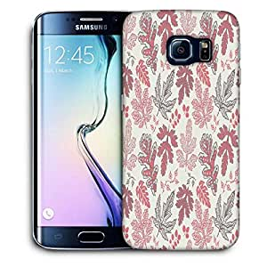 Snoogg Maroon Leaves Printed Protective Phone Back Case Cover For Samsung Galaxy S6 EDGE / S IIIIII