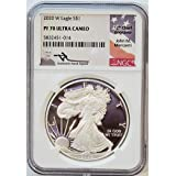 2020 W American Silver Eagle Ultra Cameo Mercanti Signed $1 PF70 NGC