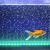 Aquarium Lampe Fisch Tank Lichter Aquarien Zubehör Belechtung Unterwasser Lampe mit 24 Taste Fernbedienung