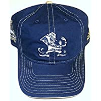 NCAA Notre Dame Slouch Strap Back Adidas Hat - Osfa - ES95Z