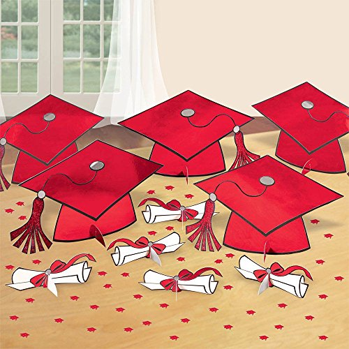 Red Graduation Table Decorating Kit