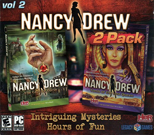 Nancy Drew - The Captive Curse & Tomb Of The Lost Queen 2-Pack (PC-DVD) (XP, VISTA, Windows 7, Windows 8) PC Detective Game (Windows 8 Video Games compare prices)