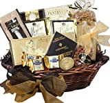 With Heartfelt Sympathy Gourmet Food Gift Basket, MEDIUM (Candy Option)