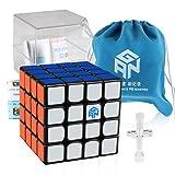 D-FantiX Gan 460 M 4x4 Speed Cube Magnetic 4x4x4 Magic Puzzle Gans 460 M Cube Black (Color: Black, Tamaño: 60mm)