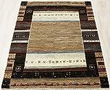 最高級ギャベ 888-5735(Y) 約154×208cm ラグカーペット ウール100% ギャッベ絨毯