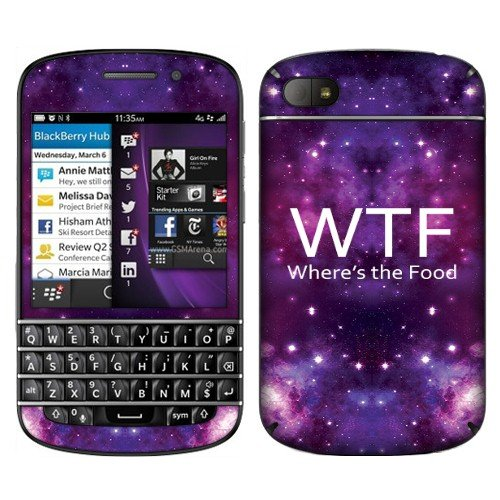 Fincibo (Tm) Blackberry Q10 Accessories Skin Vinyl Decal Sticker - Wtf Where'S The Food