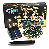 INST Solar Powered LED String Light - Ambiance Lighting - 54.5ft 17m 100 LED Solar Fairy String Lights for Outdoor - Gardens - Homes - Christmas Party (Warm white)